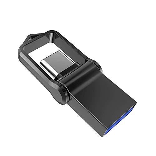 64 GB Encrypted Flash Drive, Aiibe Fingerprint USB Flash Drive 3.0 64GB Thumb Drive USB Secure Flash Drive USB Memory Stick Pen Zip Drive (64G, Black)