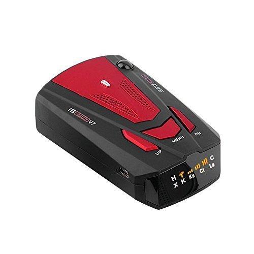 Détecteur Radar, JVR AO26 16 Band Laser/Radar Détecteur Alerte Vocale(Anglais et Russe) Système d'alarme de Vitesse de la Voiture avec 360 Détection Degré, VG-2 Immunité Mode City / Autoroute, Auto Mute, Affichage LED