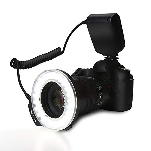 Mugast Anillo de luz de Flash de cámara, 48 Piezas Cuentas LED...