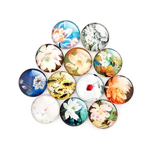 Toyvian Imanes de Cristal para refrigerador Imanes para refrigerador de gabinetes de Oficina Pizarras Decorativas Imanes de Fotos (20 Piezas - Patrón Aleatorio)