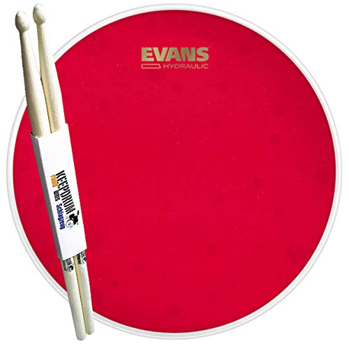 Evans B14HR Hydraulic Red Coated Snare Fell 14