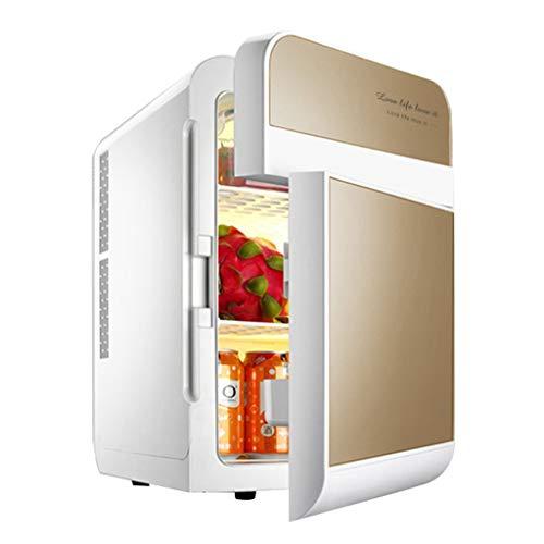 L@LILI Medizinprodukt-Kühlschrank mit Gefrierkühlschrank mit Insulin Kleingefrierkühlschrank Geringe Dezibel Platz sparen,Gold