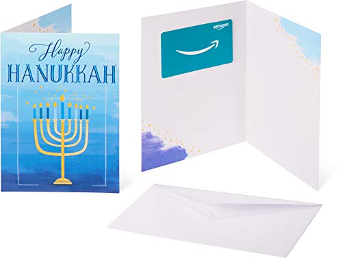 Amazon.com Gift Card in a Greeting Card - Hannukah Wishes Design