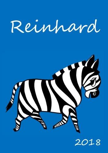 2018: personalisierter Zebra-Kalender 2018 - Reinhard - DIN A5 - eine Woche pro Doppelseite