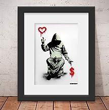 Quadro Decorativo Banksy Street Art & Vidro & Paspatur 46x56cm Qt34