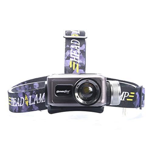 Linterna Frontal Skywolfeye zoom faro cámara tipo head light USB luz de camping