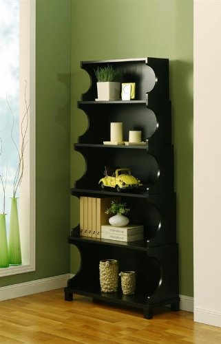 Where To Buy Enitial Lab 27117 Cosma 5 Shelves Bookcase Display Cabinet In Antique Black Finish Jan Old