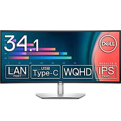 Dell 曲面USB-Cハブモニター 34.14インチ U3421WE(3年間無輝点交換保証/フレームレス/スピーカー付/USB-C/LANポート(RJ45)/WQHD/IPS非光沢/USB-C,DPx2,HDMIx2/高さ調整,左右角度調整/ドック機能搭載)