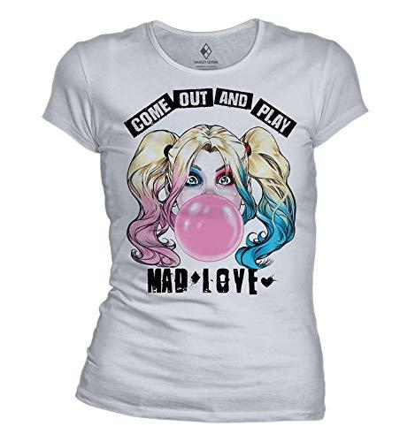 Harley Quinn t-Shirt Camiseta, Blanco,...