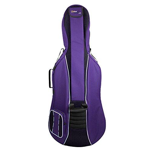 tomandwill 41VC12-615 - Custodia per violoncello classico da 1/2 taglia 3/4 viola/nero