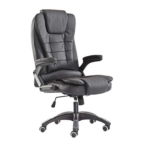 Video Game Chair,Rotating Ergonomic Adjustable Executive Chair Leather Swivel Office Chair Soft Padded Reclining Desk Chair for Home Office Study Room Office Chair with Backrest