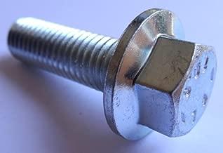 (5) M12-1.75 x 40mm Hex Head Flange Bolt Non Serrated Class 10.9 Zinc DIN 6921