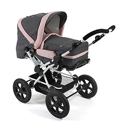 CHIC 4 BABY 100 67 Viva - Cochecito combi para bebé, incluye bolsa de transporte, diseño vaquero, color gris