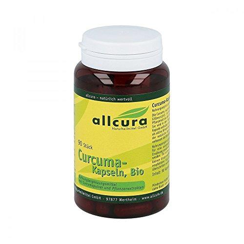 allcura Curcuma-Kapseln Bio, 90 St. Kapseln