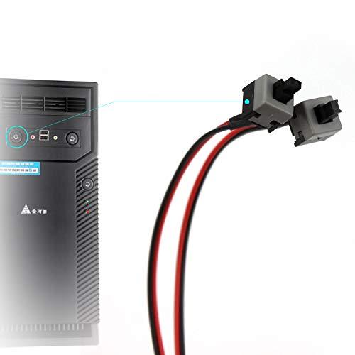 Ytian 2 Pcs Computer PC Reset SW Taster Power EIN Aus Taste Knopf Schalter Kabel 50cm