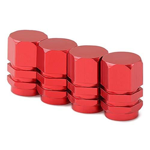 Ventilkappen Diebstahlsicher Auto-Rad-Reifen Ventile Reifenstammluftkappen for Mercedes W211 W203 W204 W210 W205 W212 W220 AMG Cadillac CTS SRX ATS Ventildeckel (Color : Red)