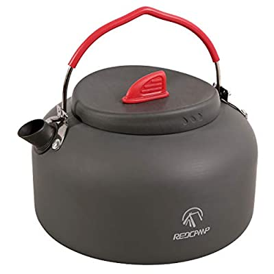 REDCAMP 1.4L Medium Outdoor Camping Kettle, Aluminum Water Pot with Carrying Bag, Compact Lightweight Tea Kettle by FREELAND EXCEED INC