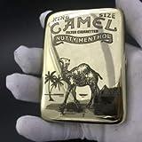 XIAOXIA Metal Cigarette Case Pure Copper Carved Cigarette Case Camel Retro Cigarette Case Golden Cigarette Case 16 Portable Anti-Pressure