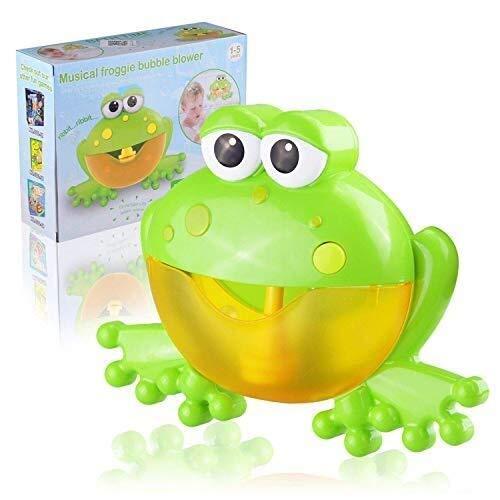 Buy Discount JWIL Bath Toys Kids Bubble Machine for Bath, Cute Funny Frog Shape Music Bubble Maker M...