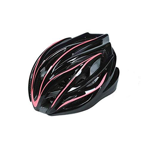 RH-HPC Fahrradhelm Helm Fahrradhelm 54-62cm 26 Entlüfterelemente Sicherheit MTB Fahrradhelm angespritzter Rennrad Helme for Männer Frauen (Farbe: Grün-Free) (Color : PinkFree)