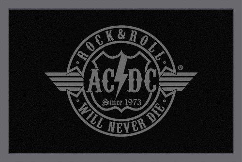 empireposter AC/DC - R´n´R Will Never die - Fußmatte, Größe: 60 x 40 cm, Material Polypropylen