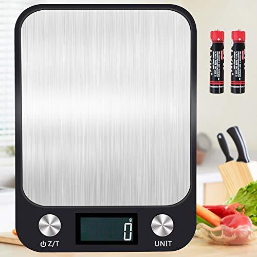 Báscula de Cocina Digital, 1g-10kg, Precisión con Retroiluminación LCD, Báscula Electrónica Profesional, Báscula Multifuncional Para Alimentos