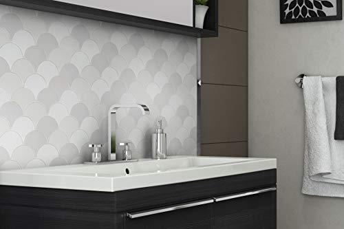 Modern Circular Grey White Porcelain Mosaic Tile Kitchen Backsplash Bathroom MTO0242