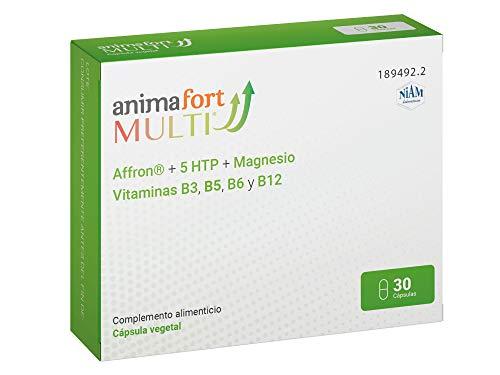 Animafort MULTI - Cápsulas Vegetales con Affron, 5-HTP, Magnesio y Vitaminas B