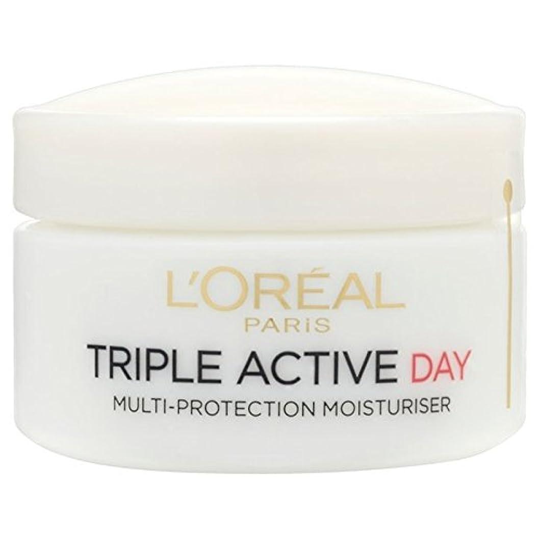 暗い相対サイズ憂鬱なL'Oreal Triple Active Day Pot Dry/Sensitive 50ml (Pack of 6) - ロレアルトリプルアクティブな一日ポットドライ/敏感50ミリリットル x6 [並行輸入品]