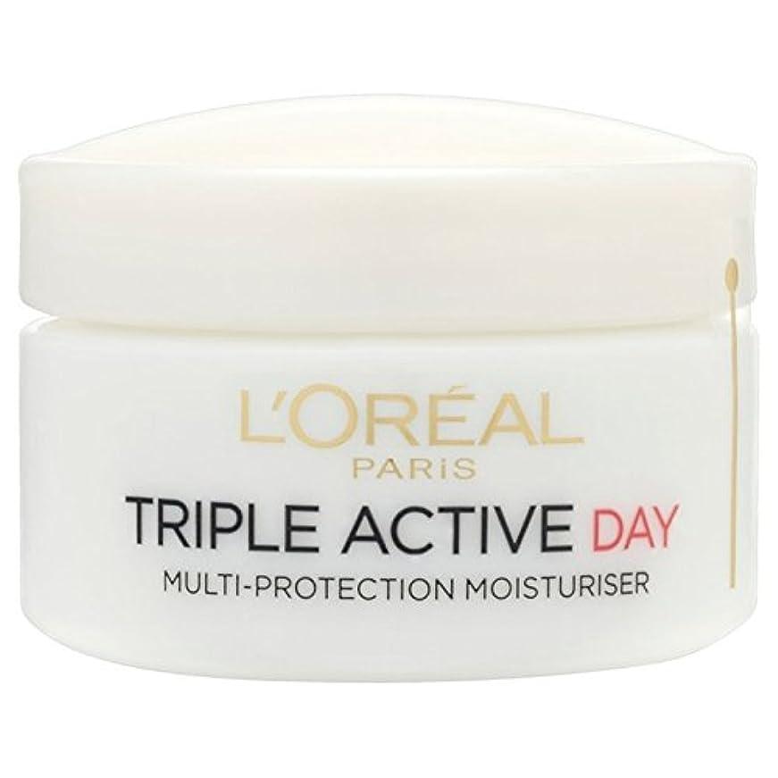 ロレアルトリプルアクティブな一日ポットドライ/敏感50ミリリットル x2 - L'Oreal Triple Active Day Pot Dry/Sensitive 50ml (Pack of 2) [並行輸入品]