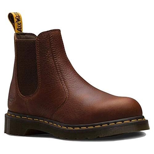Dr. Martens, Women's Arbor Steel Toe Light Industry Boots, Teak, 7 M US