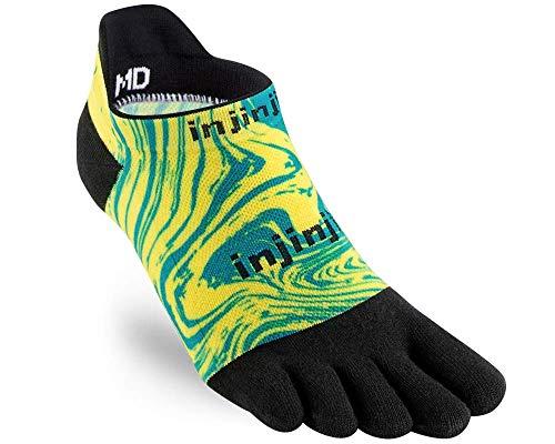 Injinji Run Lightweight NoShow Toe Socks Marble Size : 37-40