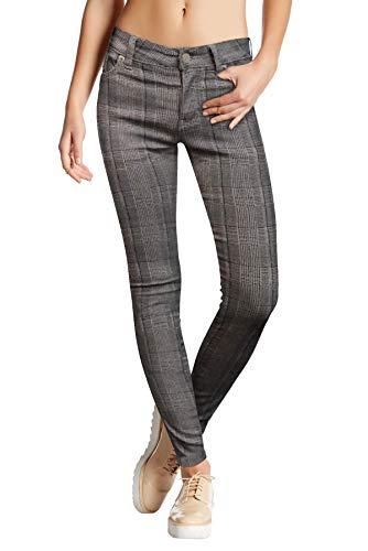 Hybrid & Company Womens Super Stretch Comfy Skinny Pants P44878SK Khaki L