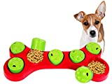 Pet Toys Hide and Treat BONE PUZZLE Interactive Dog Toys for Boredom Treat...
