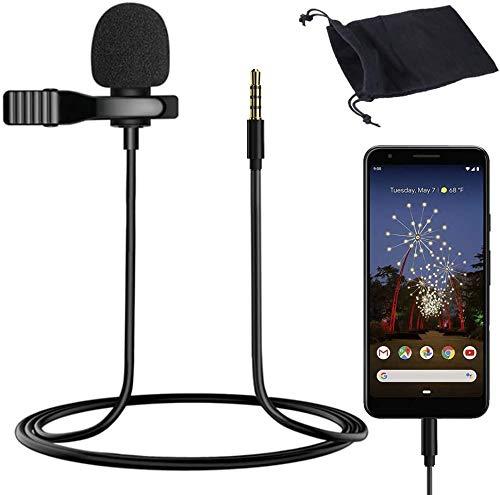 3.5mm Professional Microphone Clip Lavalier Lapel Microphone Video Recording Audio Mic Microphone for Mobile Phone Camera Microphones