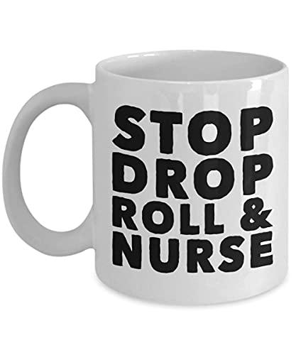 Enfermera Enfermería Taza Stop Drop Roll Common Sense Regalo Odd Ceramic Coffee Cup