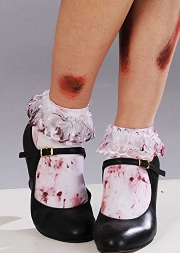Socquettes blanches sanglante Womens Zombie