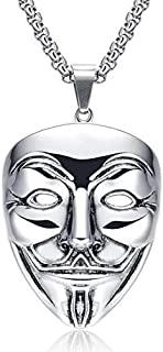 PK-1133SR Fashionable Stainless Steel with Mask Pendant Necklace for Men