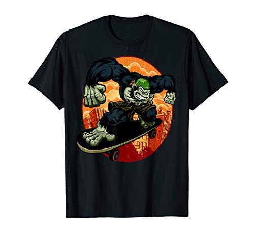 Cool Angry Moneky Gorilla Skater VS Hater T shirt Gift