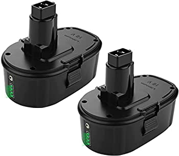 Yabelle 2Pack 5.0Ah Lithium Battery Replacement for Dewalt Battery 18 Volt XRP Ni-Cad Battery DC9096 DC9098 DC9099 DE9039 DE9095 DE9096 DE9098 DW9095 DW9096 DW9098 DE9503 DC9182 Dewalt Batteries