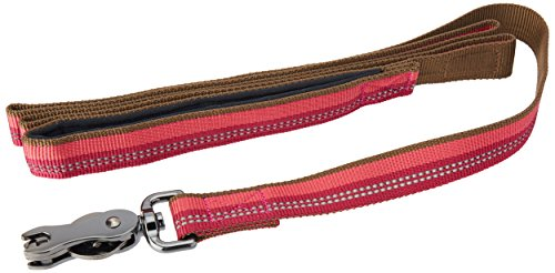 Coastal - K-9 Explorer - Reflective Dog Leash with Scissor Snap, Berry, 1' x 06'