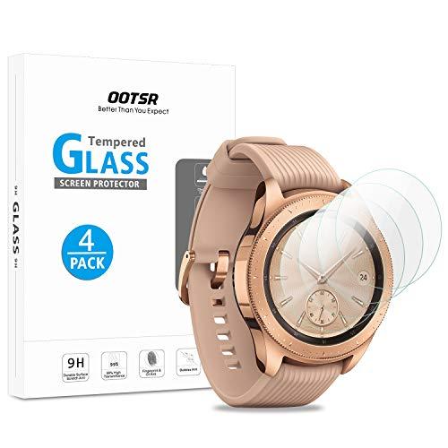 OOTSR (4 Stück) Bildschirmschutzfolie für Samsung Galaxy Watch 42mm / Gear S2 Classic, Panzerglas Schutzfolie für Samsung Watch 42mm / Samsung Gear S2