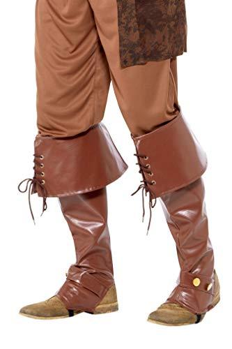 Smiffy's 40197 Deluxe - Cubrebotas pirata para hombre, color marrón, talla única