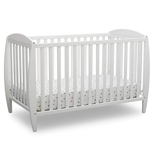 Delta Children Taylor 4-in-1 Convertible Baby Crib - Bianca White