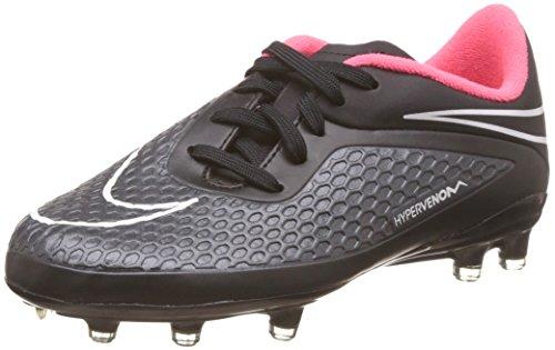 Nike Jr. Hypervenom Phelon Junior Soccer Boot, Black/Red, US4.5