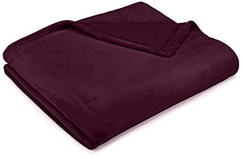 Pinzon Velvet Plush Blanket - King, Burgundy