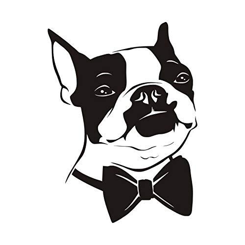 Sanzangtang Boston Terrier muurstickers, afneembaar, grappige dieren, vliegen, muurstickers, vinyl, kinderkamer