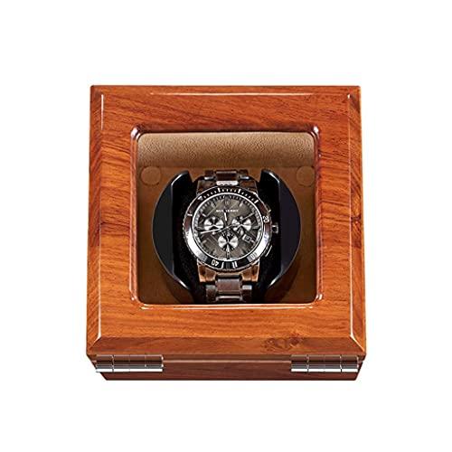 HEZHANG Watch Box Wooden Watch Watch Winder para Relojes 1/2/3/4, Caja de Relojes Mecánicos con Motor Silencioso, con 5 Modos de Configuración Caja de Rotación Mecánica de Relojes Mecánicos,a,1 + 0
