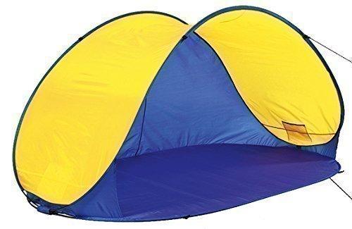 4Uniq Pop Up Zelt - Strandmuschel Campingzelt blau/gelb 18631-003