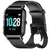 Blackview Smartwatch Uomo Donna,Orologio Fitness con Contapassi Saturimetro (SpO2) Sonno Cardiofrequenzimetro da Polso, Activity Tracker Sport Impermeabile 5ATM per Android iOS (2 Cinturini)